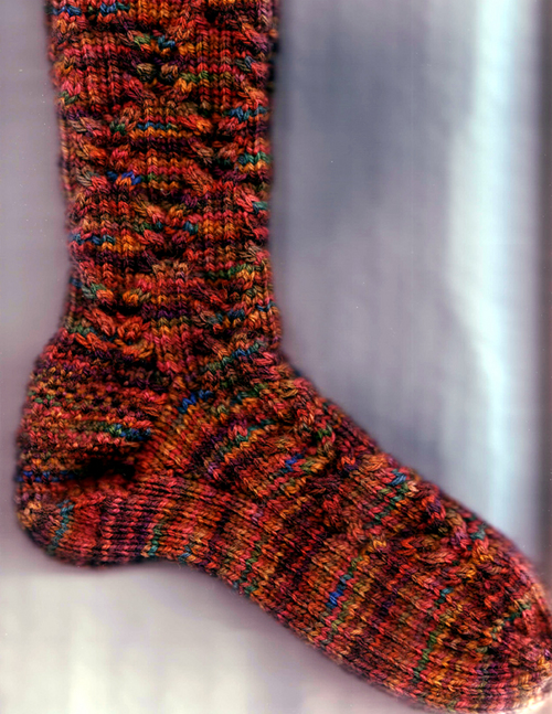 Crossing cables socks