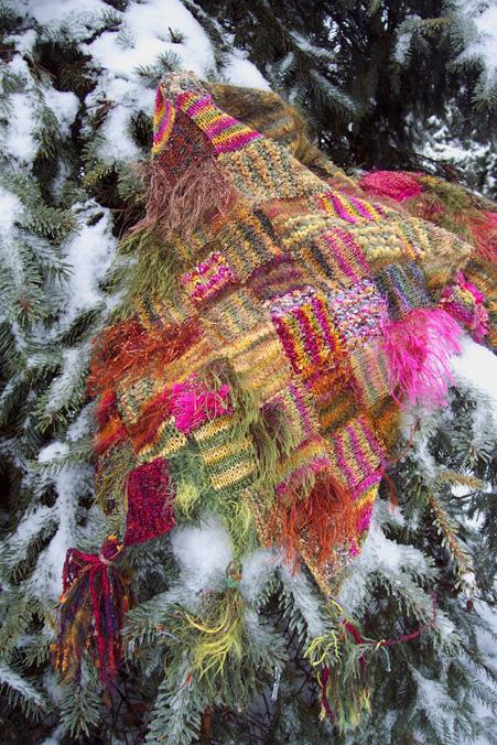 Entrelac shawl
